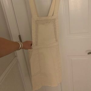 Cream overall dress with lace